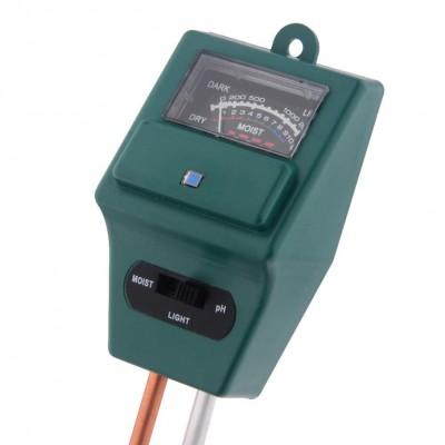 Combination Moisture, Light & pH Tester